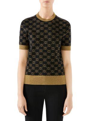 Fine Wool Knit GG Lurex Sweater