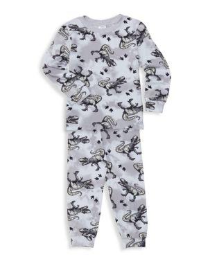Little Boy's & Boy's Dinosaur Two-Piece Pajama Set