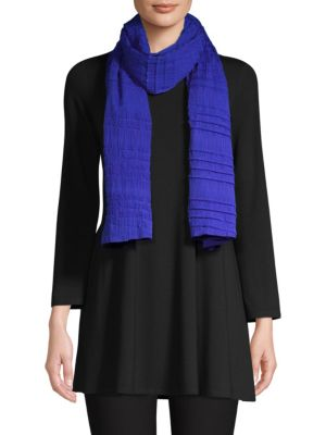 Variegated Pleated Scarf in Blue