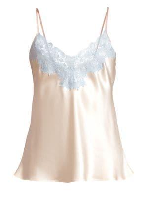 GINIA | Lace-Trimmed Silk Cami | Goxip