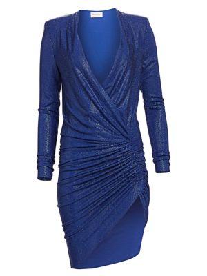 Microcrystal V-Neck Dress