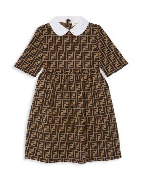 Toddler, Little Girl's & Girl's Logo Print Dress