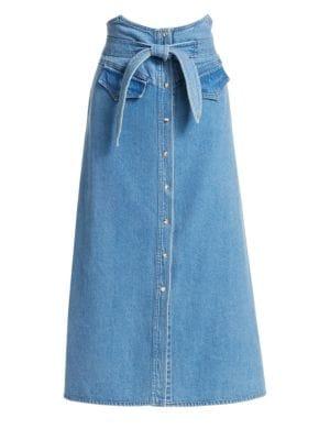 Alma Denim Midi Skirt