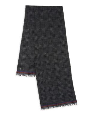 Check Wool-Blend Scarf