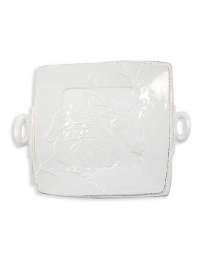 Lastra Winterland Handled Square Platter