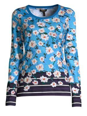 Elumia Floral Long Sleeve Top