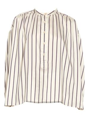 Olda Striped Half-Placket Blouse