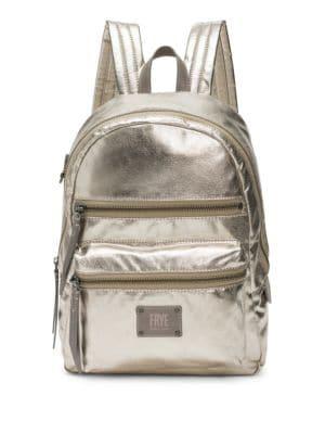 Ivy Metallic Nylon Backpack - Grey, Pewter