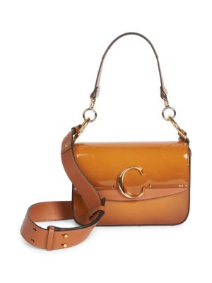 CHLOÉ | Chloe C Patent Leather Double Carry Bag | Goxip