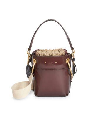 CHLOE | Roy Patent Leather Bucket Bag | Goxip