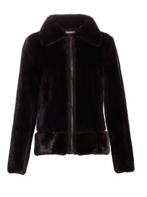 ZAC POSEN | Mink Fur & Suede Cropped Jacket | Goxip
