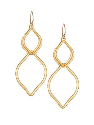 DEAN DAVIDSON | Sahara 22K Goldplated Earrings | Goxip
