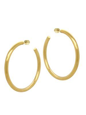 DEAN DAVIDSON | 22K Goldplated Hoop Earrings | Goxip