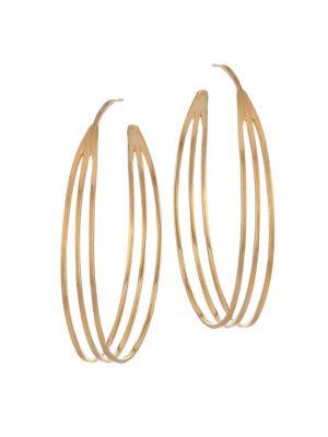 DEAN DAVIDSON | 22K Golplated Trinity Hoop Earrings | Goxip