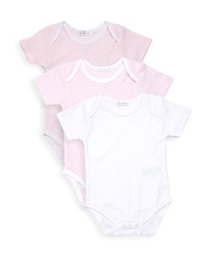 Baby Girl's Kissy Three-Piece Short-Sleeve Bodysuit Set