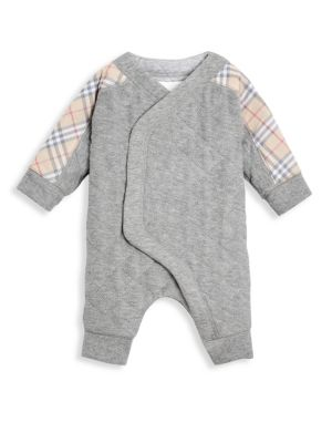 Baby's Dalton Quilted Cotton Check Coverall