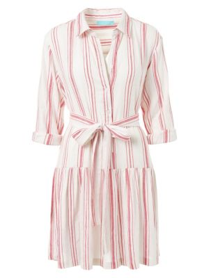 Amelia Striped Cotton Shirtdress