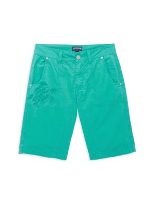 Little Boy's & Boy's Aqua Reactive Swim Trunks