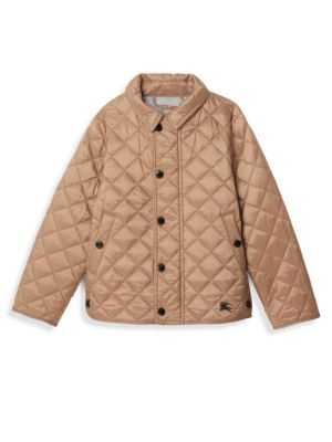 Little Girl's & Girl's Diamond Quilted Jacket