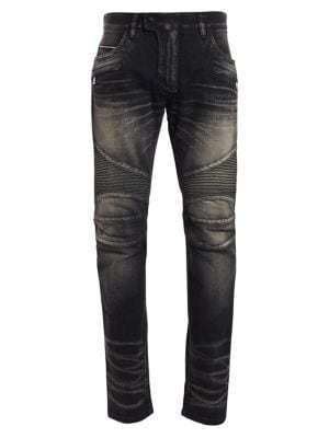 Tapered Biker Jeans