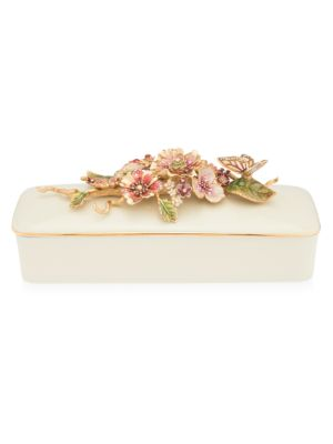 Brocade Floral Branch Box