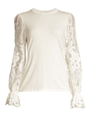Hamani Lace Sleeve Top