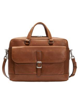 Oliver Two-Handle Leather Messenger Bag