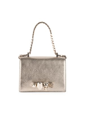 Small Jeweled Leather Satchel