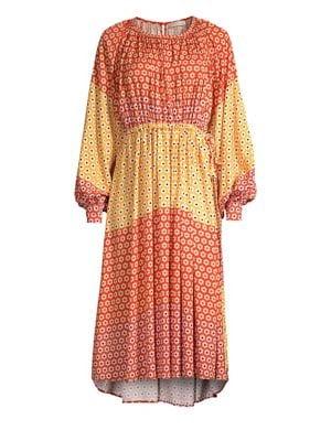 Ophelia Colorblocked Daisy Dress