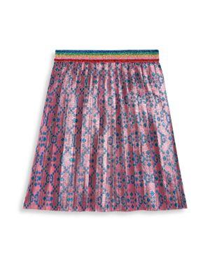 Little Girl's & Girl's GG Net Lurex Jacquard A-Line Skirt