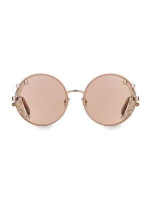 59MM Gema Round Gemstone Sunglasses