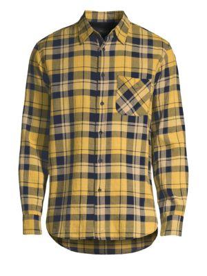 Fit 3 Beach Plaid Button-Down Shirt