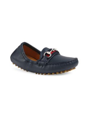 Little Boy's Leather Moccasin Driving Loafers