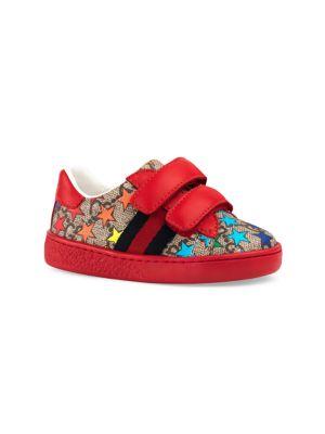 Baby's Star Print Velcro Strap Sneakers