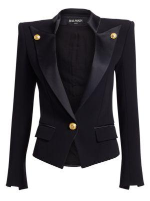 Pointed Smoking Collar Jacket