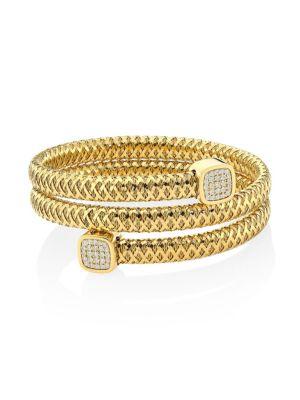 Primavera 18K Yellow Gold & Diamond Coiled Wrap Bracelet