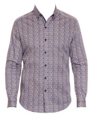 Cardin Floral Stretch Cotton Sport Shirt