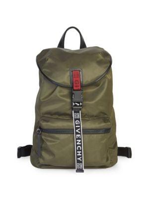 Logo Strap Nylon Backpack