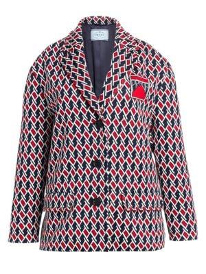 Jacquard Argyle Oversized Jacket