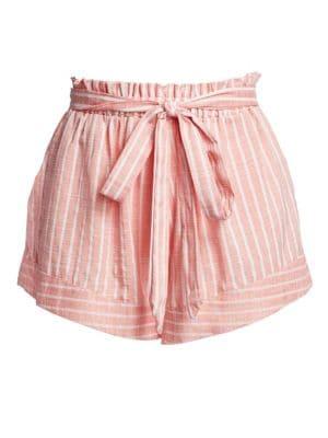 Amalfi Belted Striped Paperbag Shorts