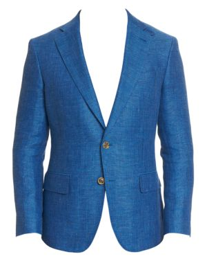 Leland Tailored-Fit Linen-Blend Blazer