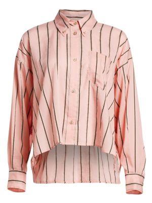 YCAO Striped Linen & Silk Shirt