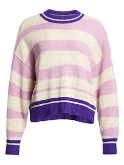 이자벨 마랑 Isabel Marant Etoile Glowy Striped Crewneck Sweater