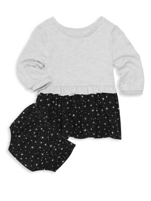 Baby Girl's Star Two-Piece Dress & Bloomers Set