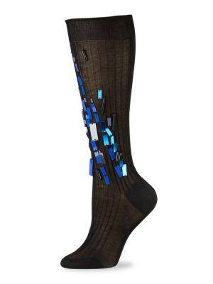 Embellished Cotton Socks