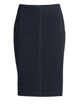 PESERICO | Stretch Pencil Skirt | Goxip