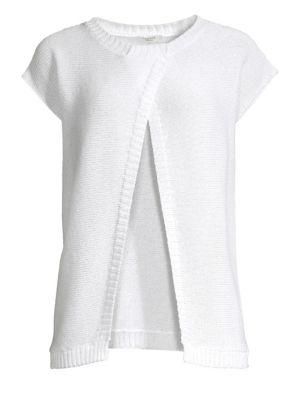 PESERICO | Short-Sleeve Knit Cardigan | Goxip