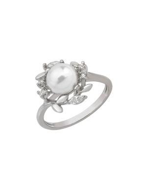 8MM White Pearl Vine Ring