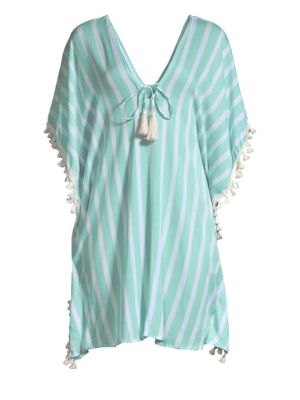 COOLCHANGE Positano Oversized Toiny Stripe Tunic in Clearwater