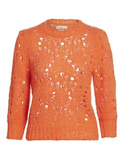 이자벨 마랑 Isabel Marant Etoile Sinead Crochet Knit Sweater,Papaya